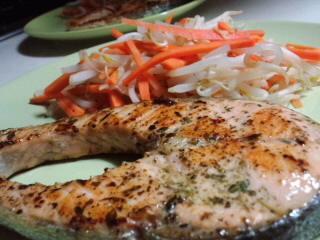 めぢか鮭ステーキ