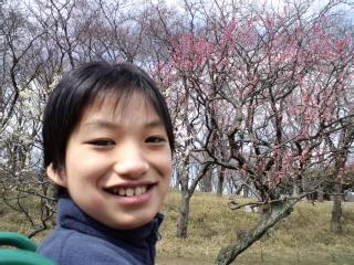森林公園で梅さんぽ